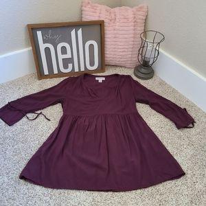 Motherhood Maternity Purple Size Small Tunic